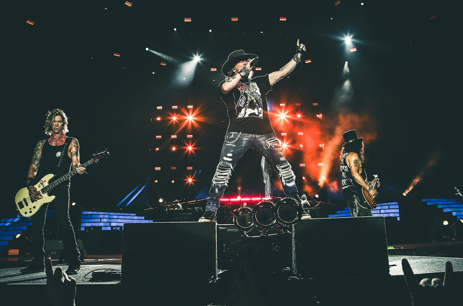 Guns N' Roses perform in Cincinnati.