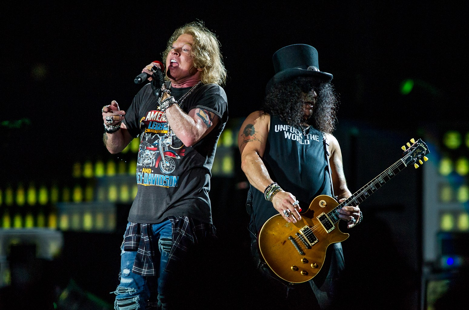 Axl Rose and Slash of Guns 'N' Roses
