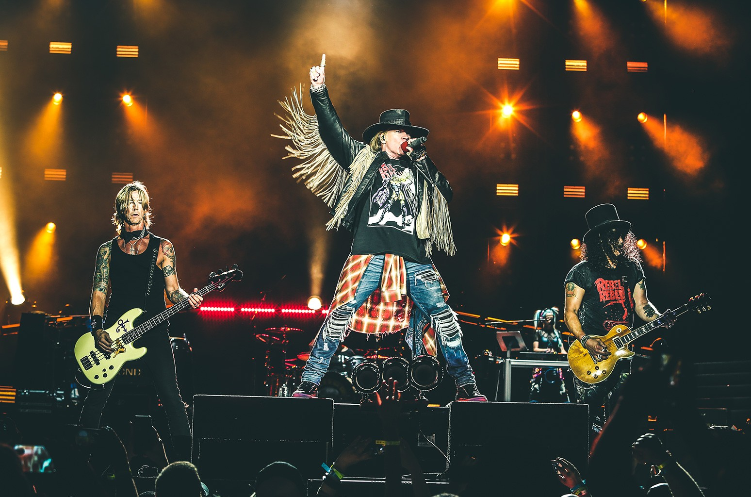 Guns N' Roses Not In This Lifetime Tour live at Soldier Field in Chicago on July 1, 2016.