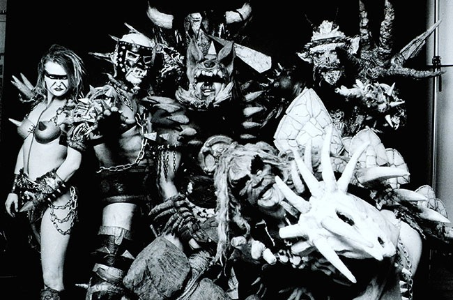 GWAR photographed in New York in 1994
