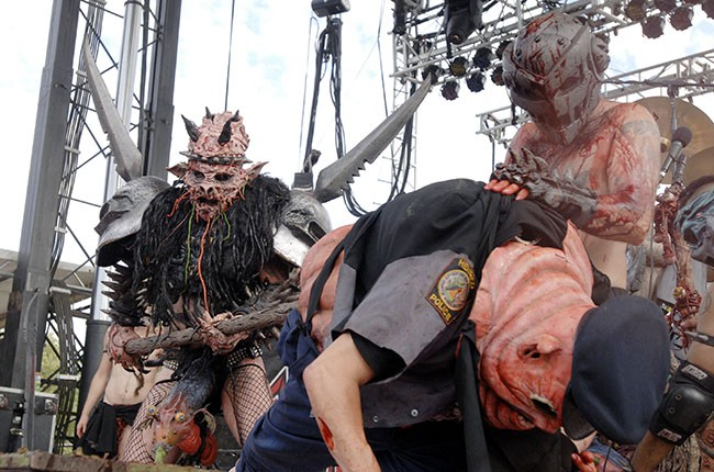 Oderus Urungus and Gwar perform as part of Sounds of the Underground 2006