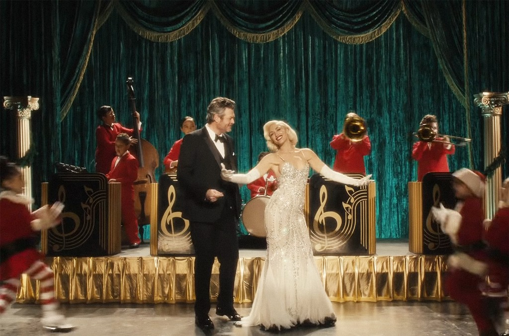 "Gwen Stefani ft. Blake Shelton, ""You Make It Feel Like Christmas"""