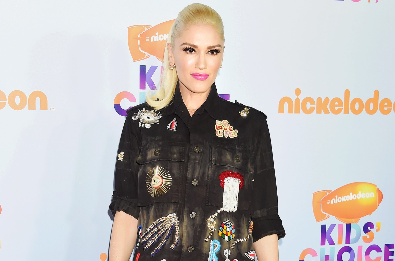 Gwen Stefani arrives at the Nickelodeon's 2017 Kids' Choice Awards at USC Galen Center on March 11, 2017 in Los Angeles.