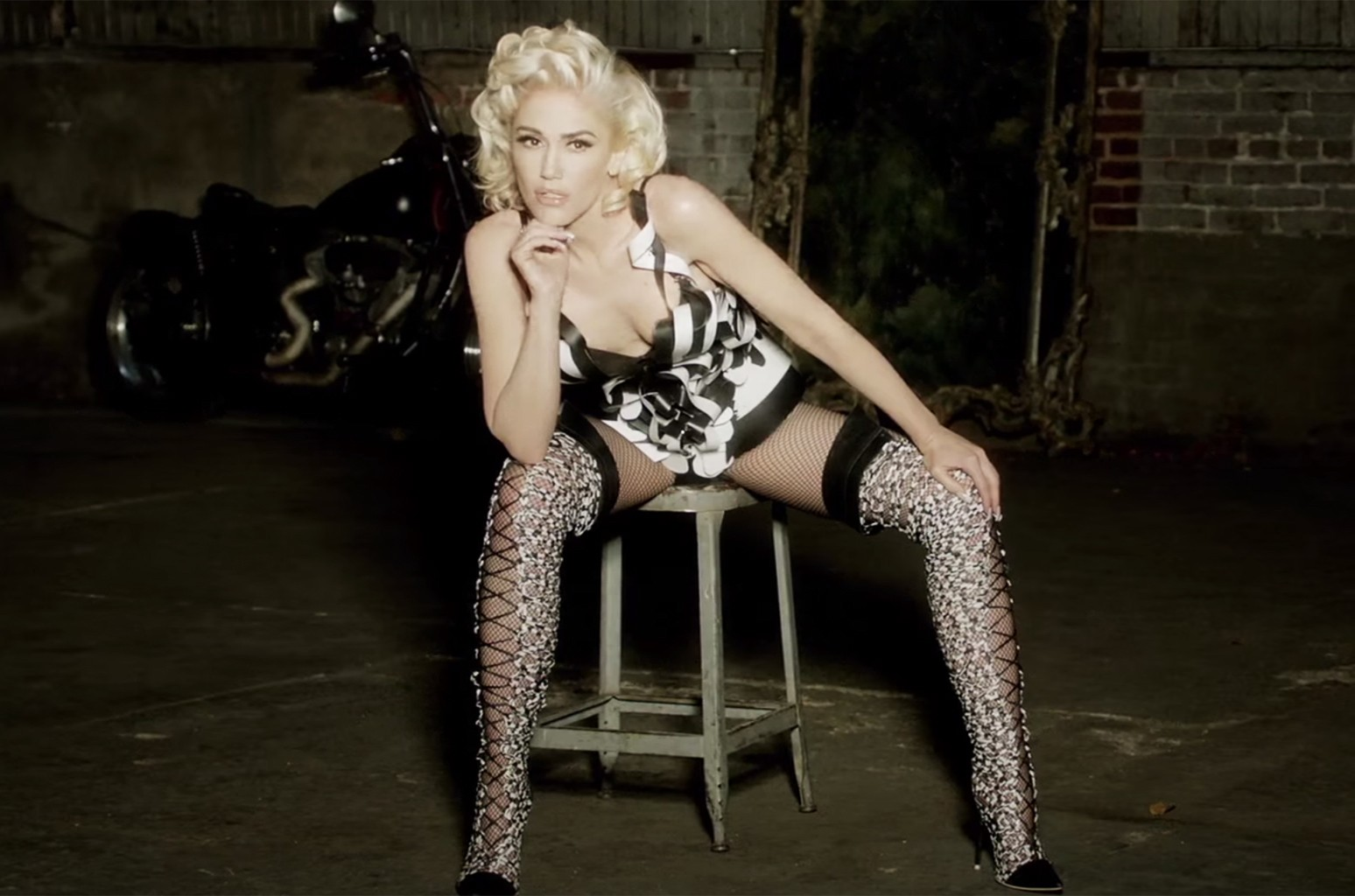"Gwen Stefani in the video for ""Misery"""