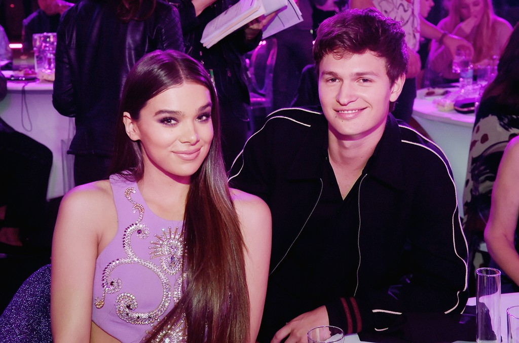 Hailee Steinfeld and Ansel Elgort attend the 2017 MTV Movie and TV Awards at The Shrine Auditorium on May 7, 2017 in Los Angeles.