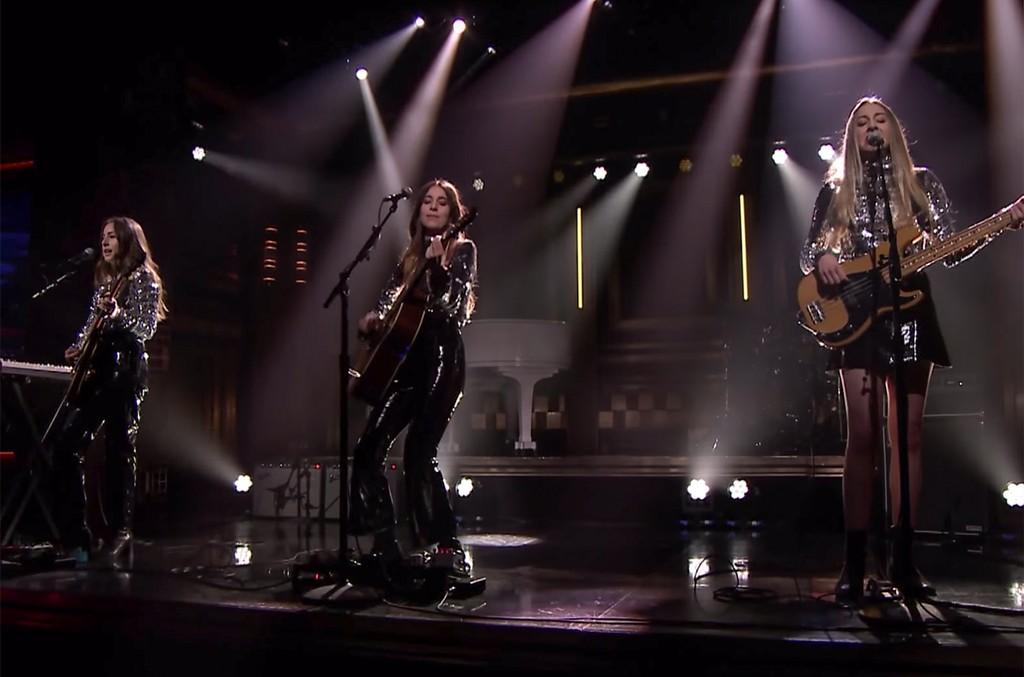 Haim perform on The Tonight Show Starring Jimmy Fallon