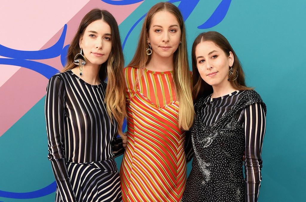 Danielle Haim, Este Haim, and Alana Haim of Haim attend the 2017 CFDA Fashion Awards at Hammerstein Ballroom on June 5, 2017 in New York City.