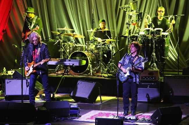Hall & Oates perform at the Grand Opening of The Fillmore Philadelphia Oct. 1, 2015 in Philadelphia.