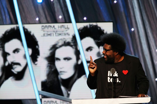 Questlove presents Hall and Oats at the 2014 Rock And Roll Hall Of Fame Induction Ceremony