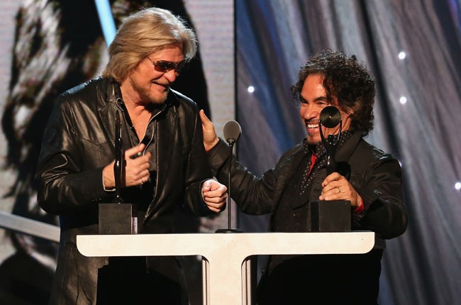 Hall and Oates during the 2014 Rock And Roll Hall Of Fame Induction Ceremony