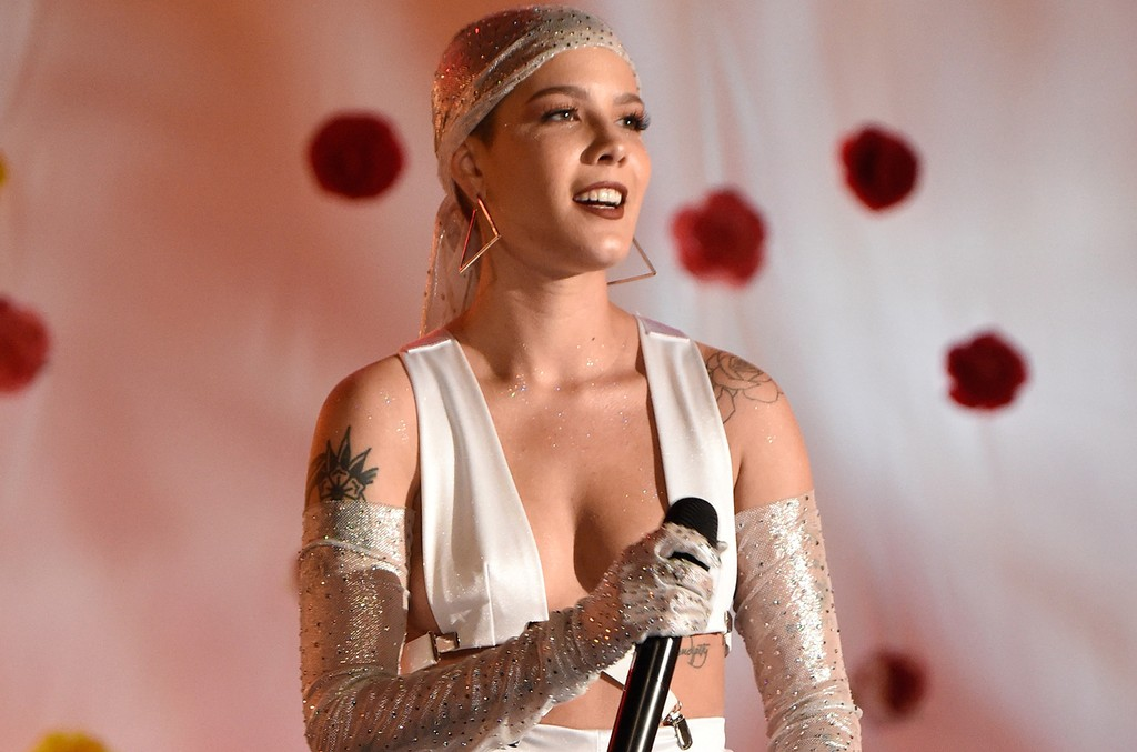 Halsey performs onstage during the 2017 Billboard Music Awards at T-Mobile Arena on May 21, 2017 in Las Vegas.