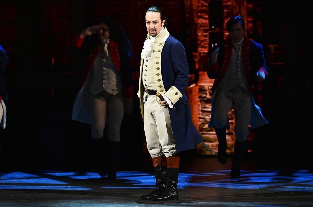 "Lin-Manuel Miranda of ""Hamilton"" performs at the Tony Awards"