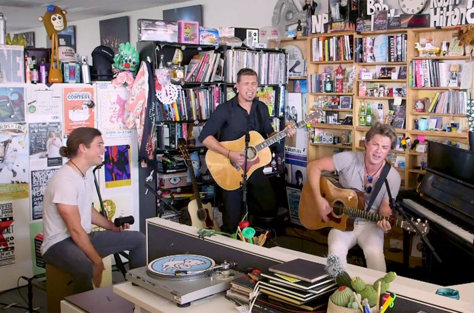 Hanson performs on NPR Music's Tiny Desk concert series.