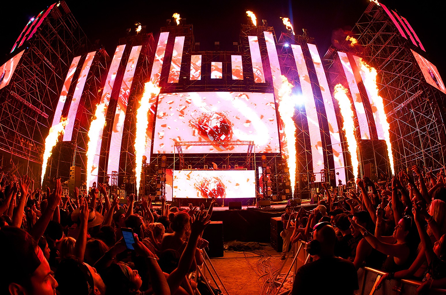 A general view of atmosphere and crowds at the HARD Summer Music Festival 2015 at Fairplex on Aug. 2, 2015 in Pomona, Calif.