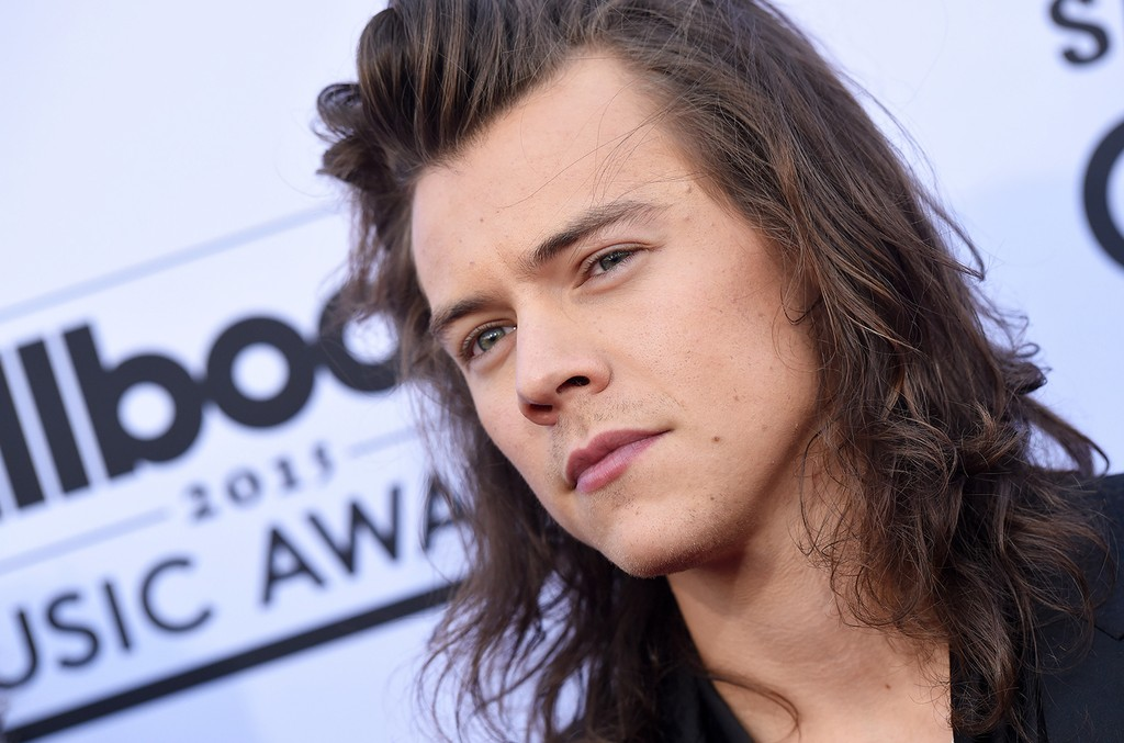 Harry Styles of One Direction arrives at the 2015 Billboard Music Awards