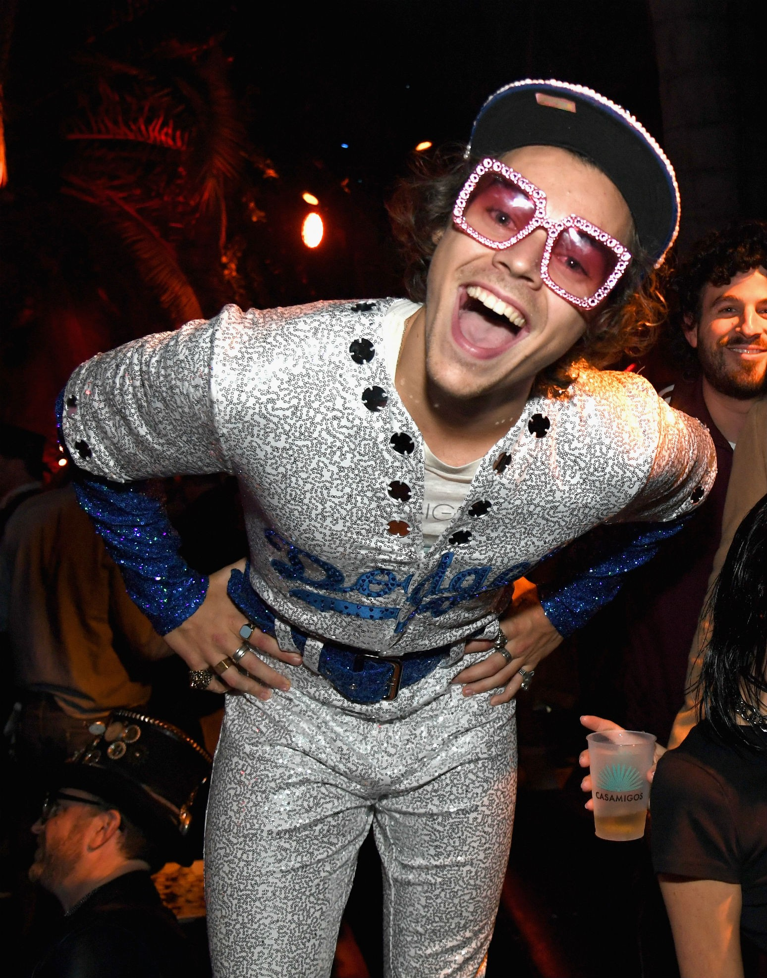 Harry Styles Sparkles In Spot On Elton John Halloween Costume See