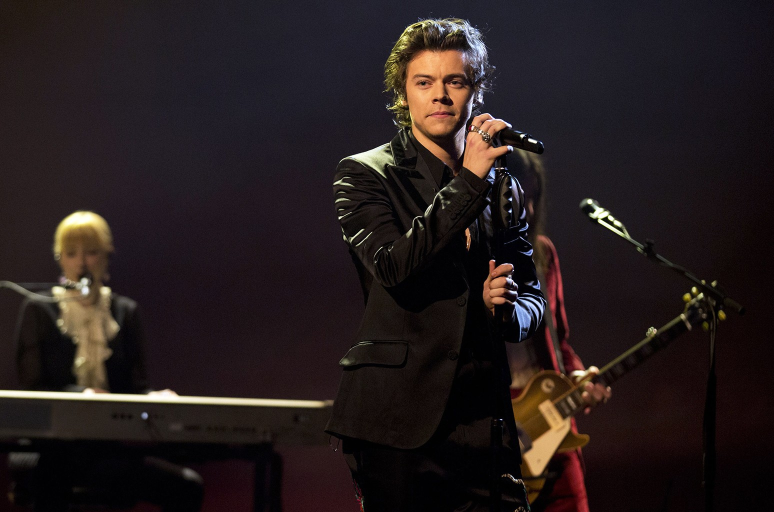 Harry Styles performs during the filming of The Graham Norton Show at The London Studios.