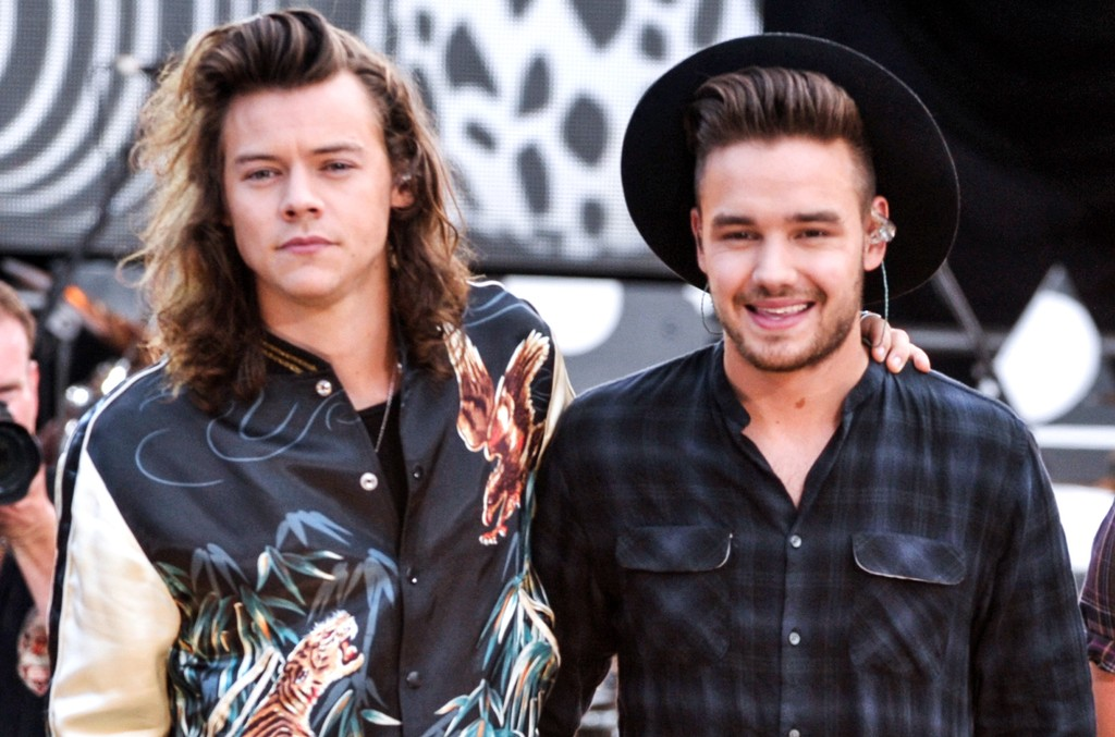 Harry Styles and Liam Payne on Good Morning America on Aug. 4, 2015 in New York City.
