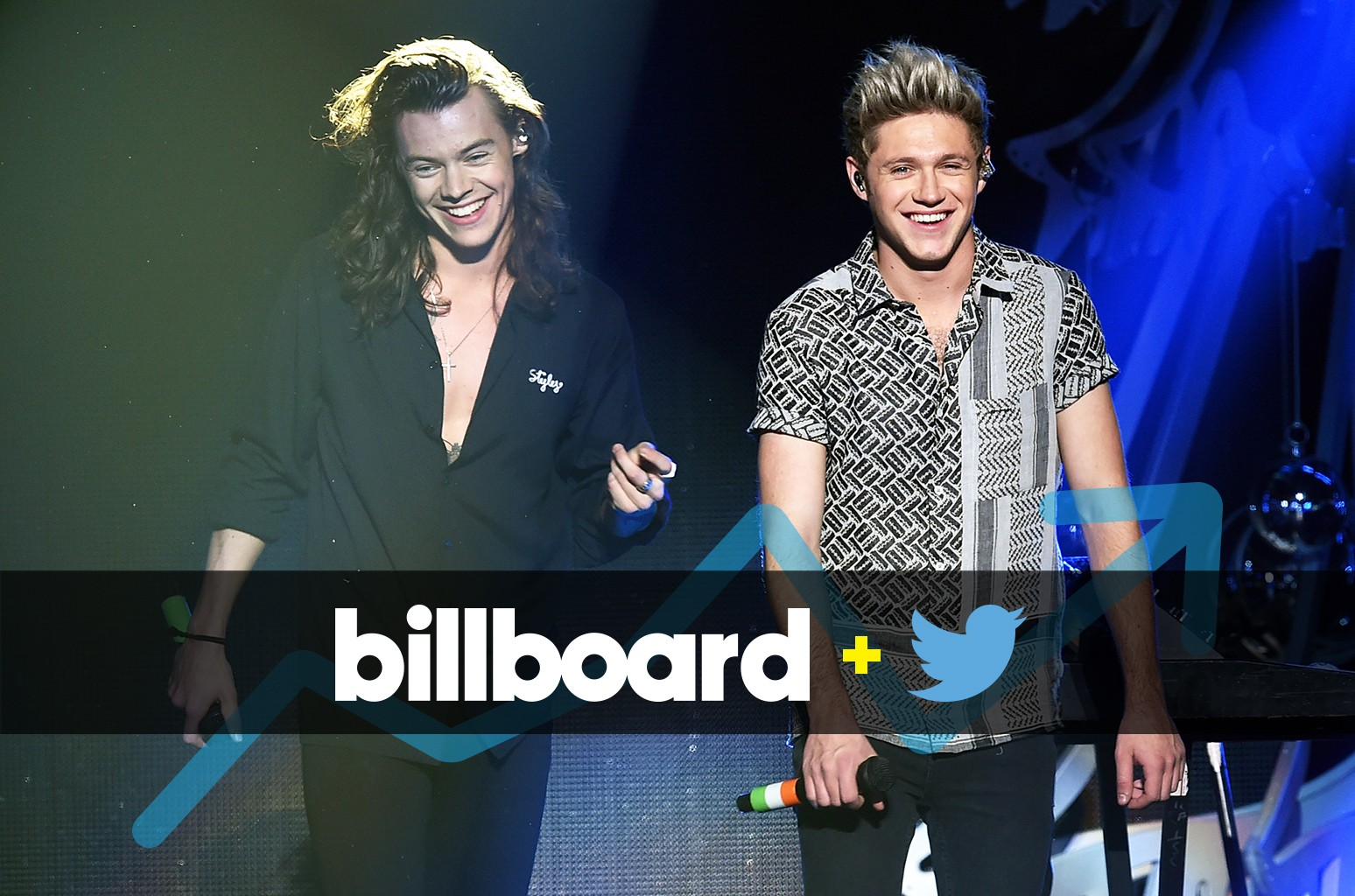 Harry Styles and Niall Horan performs at Staples Center on Dec. 4, 2015 in Los Angeles.