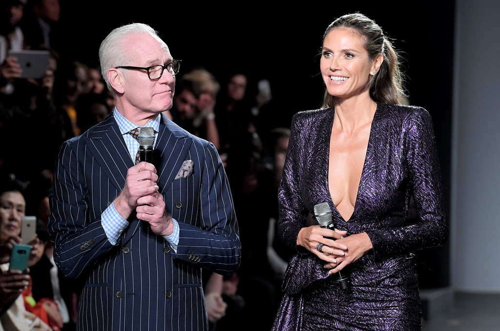 Heidi Klum Tim Gunn Exit Project Runway For Amazon Fashion Show Billboard