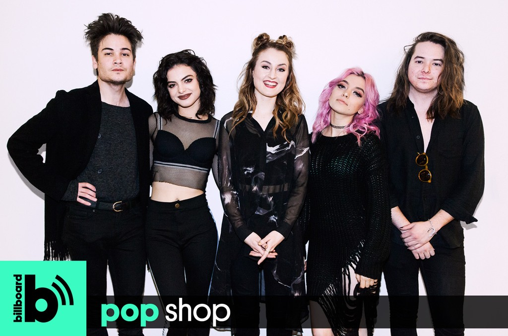 Hey Violet photographed at Billboard HQ on March 22, 2017 in New York City.