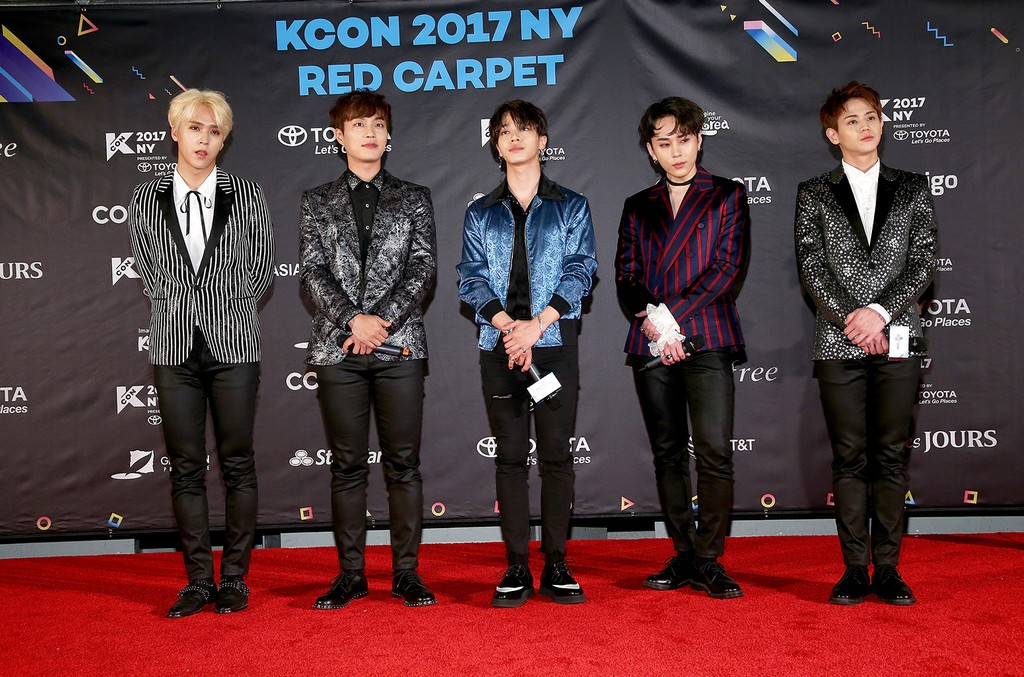 Highlight attend KCON 2017 Red Carpet  at Prudential Center on June 23, 2017 in Newark, N.J.