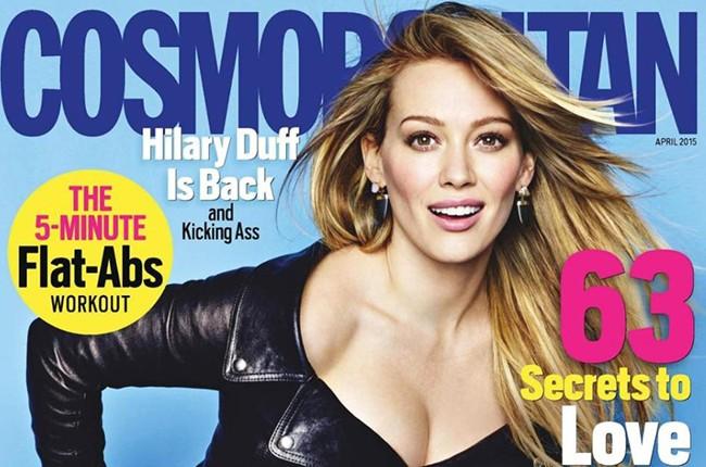 Hilary Duff in Cosmopolitan
