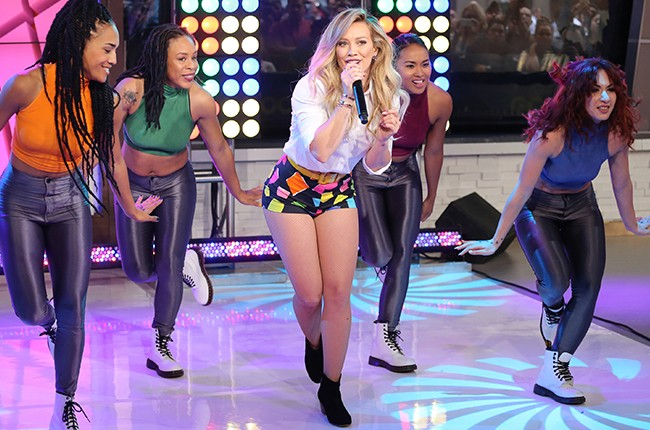 Hilary Duff performs live on Good Morning America
