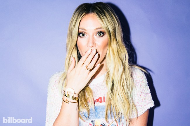 Hilary Duff photographed at Billboard's Chelsea, New York studio on June 17, 2015.