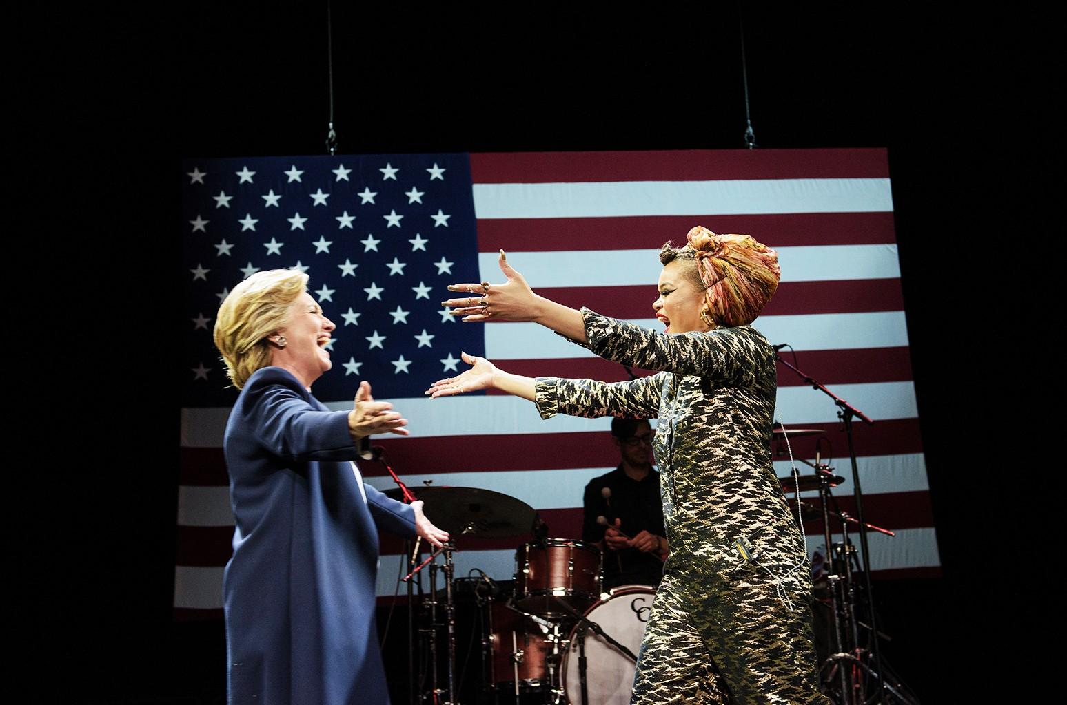Andra Day & Hillary Clinton