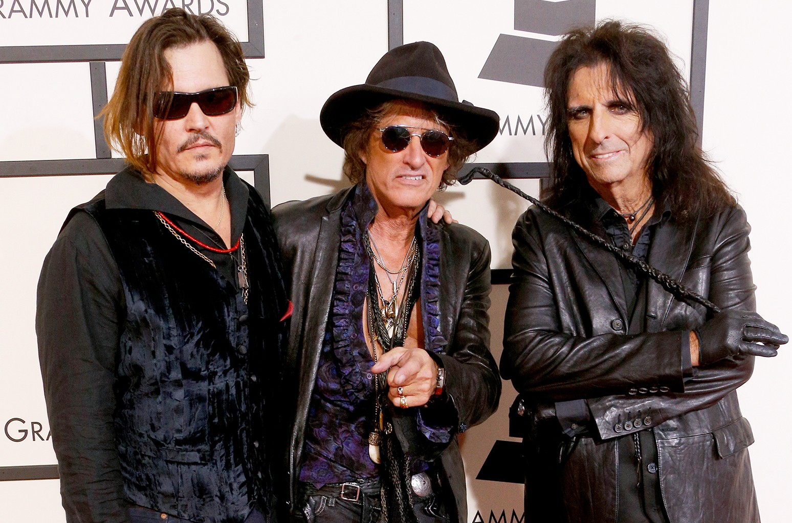 Johnny Depp, Joe Perry and Alice Cooper of Hollywood Vampires