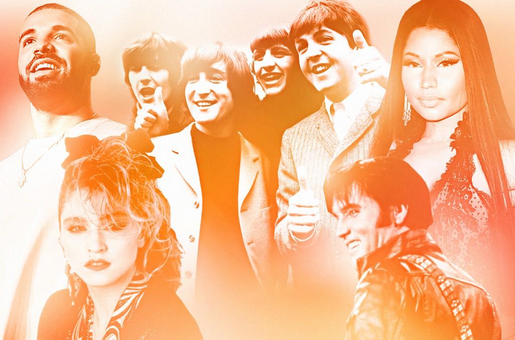 Drake, The Beatles, Nicki Minaj, Elvis Presley & Madonna
