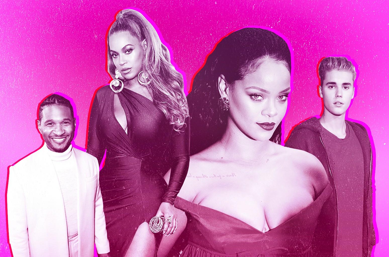 Usher, Beyoncé, Rihanna & Justin Bieber