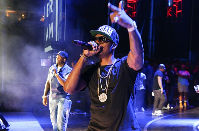 50 Cent and Nas perform in concert during Hot 97 Summer Jam 2014