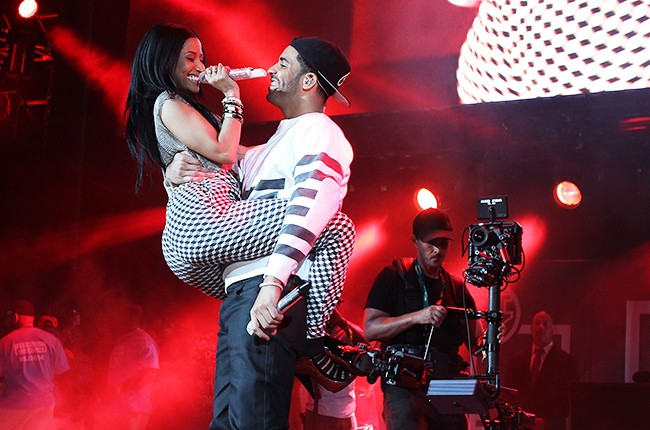 Nicki Minaj and Drake perform at Hot 97 Summer Jam 2014