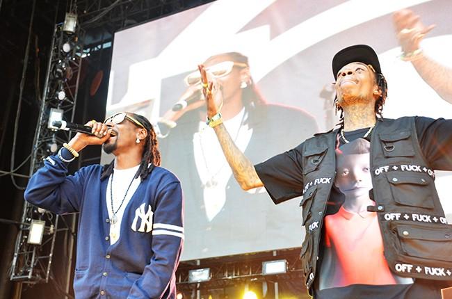 Wiz Khalifa and Snoop Dogg perform at Hot 97 Summer Jam 2014