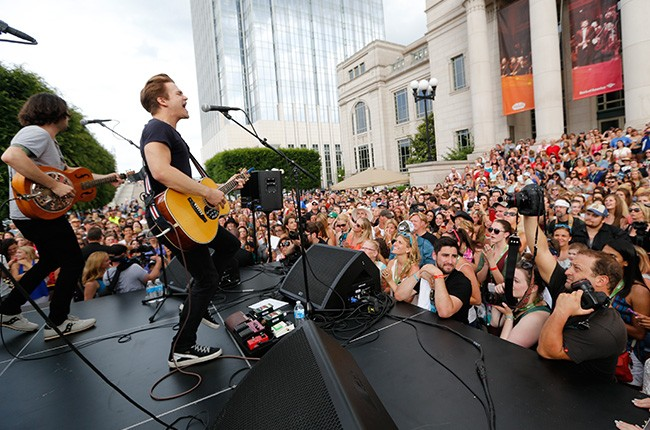 Hunter Hayes performs at CMA Music Festival