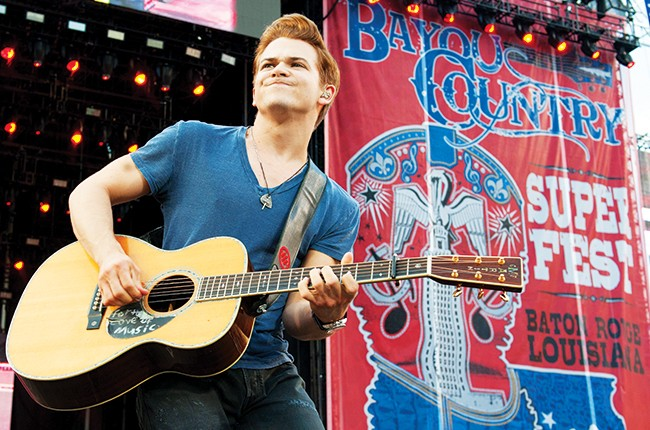 Hunter Hayes performs during 2014 Bayou Country Superfest
