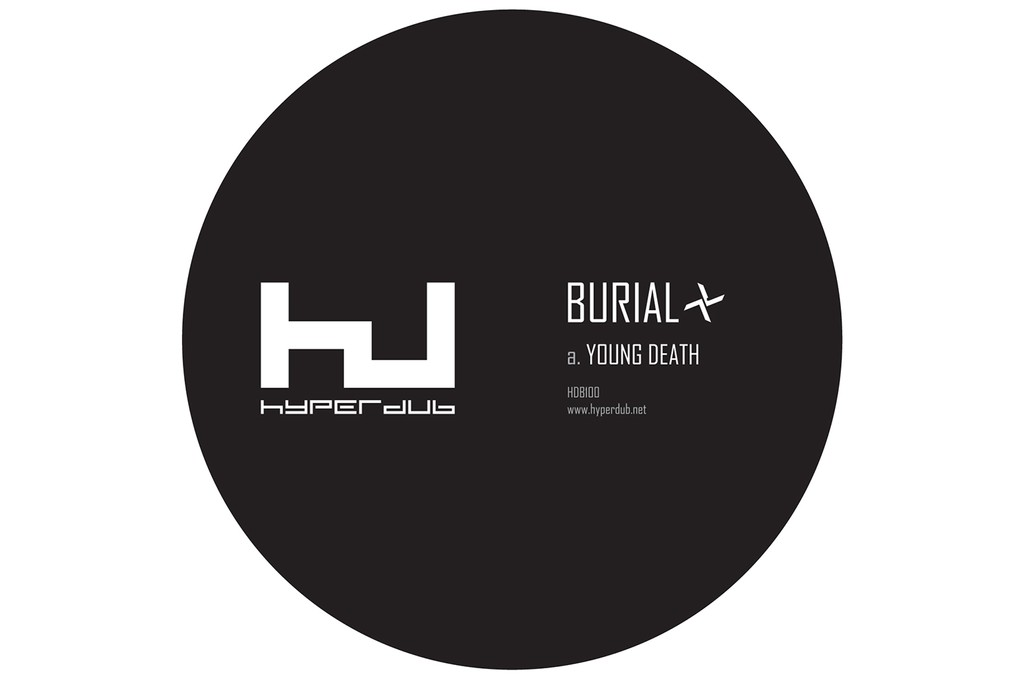 """Burial, """"Young Death"""" Side Label"""