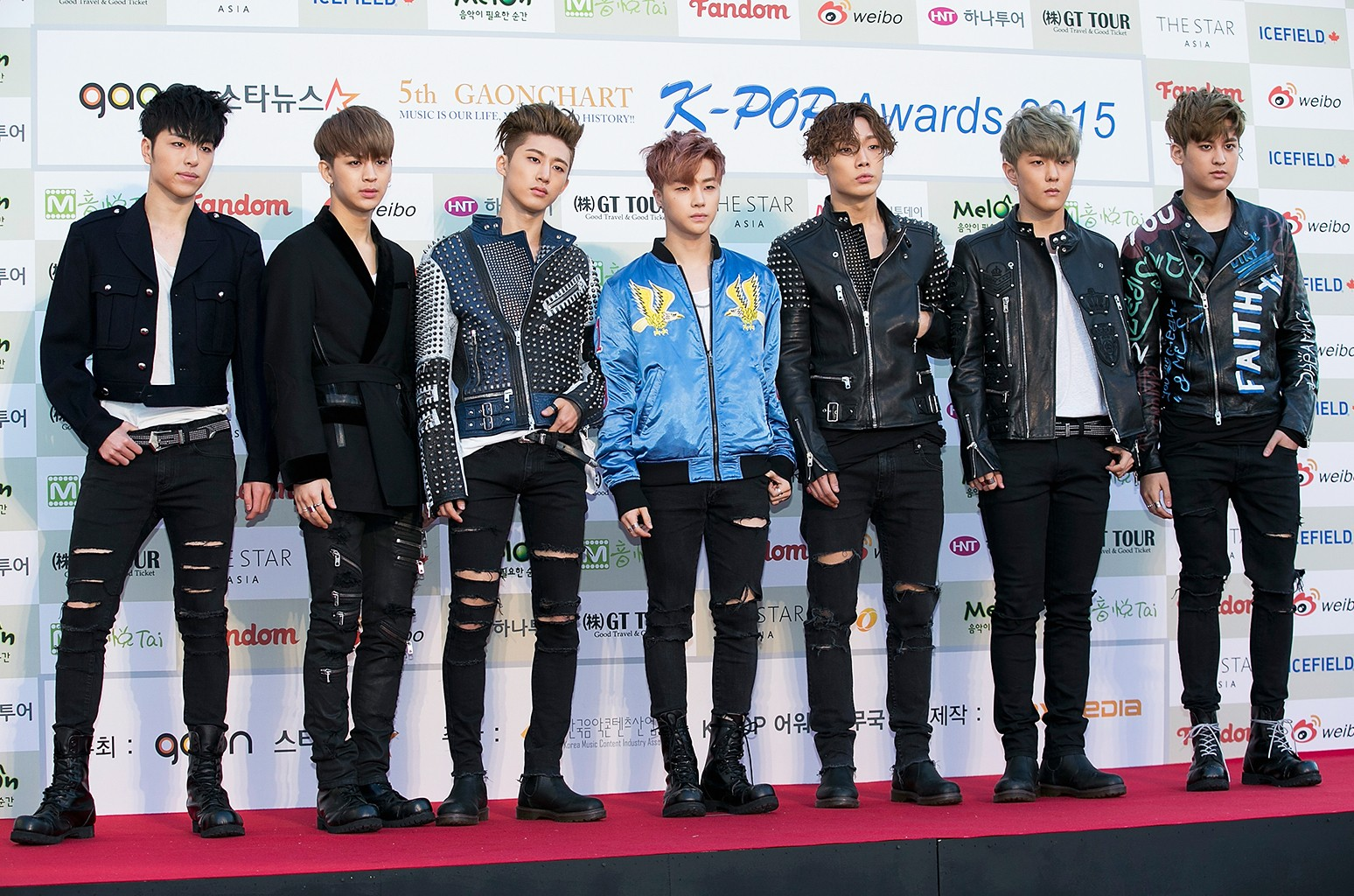 iKON attend the 5th Gaon Chart K-Pop Awards