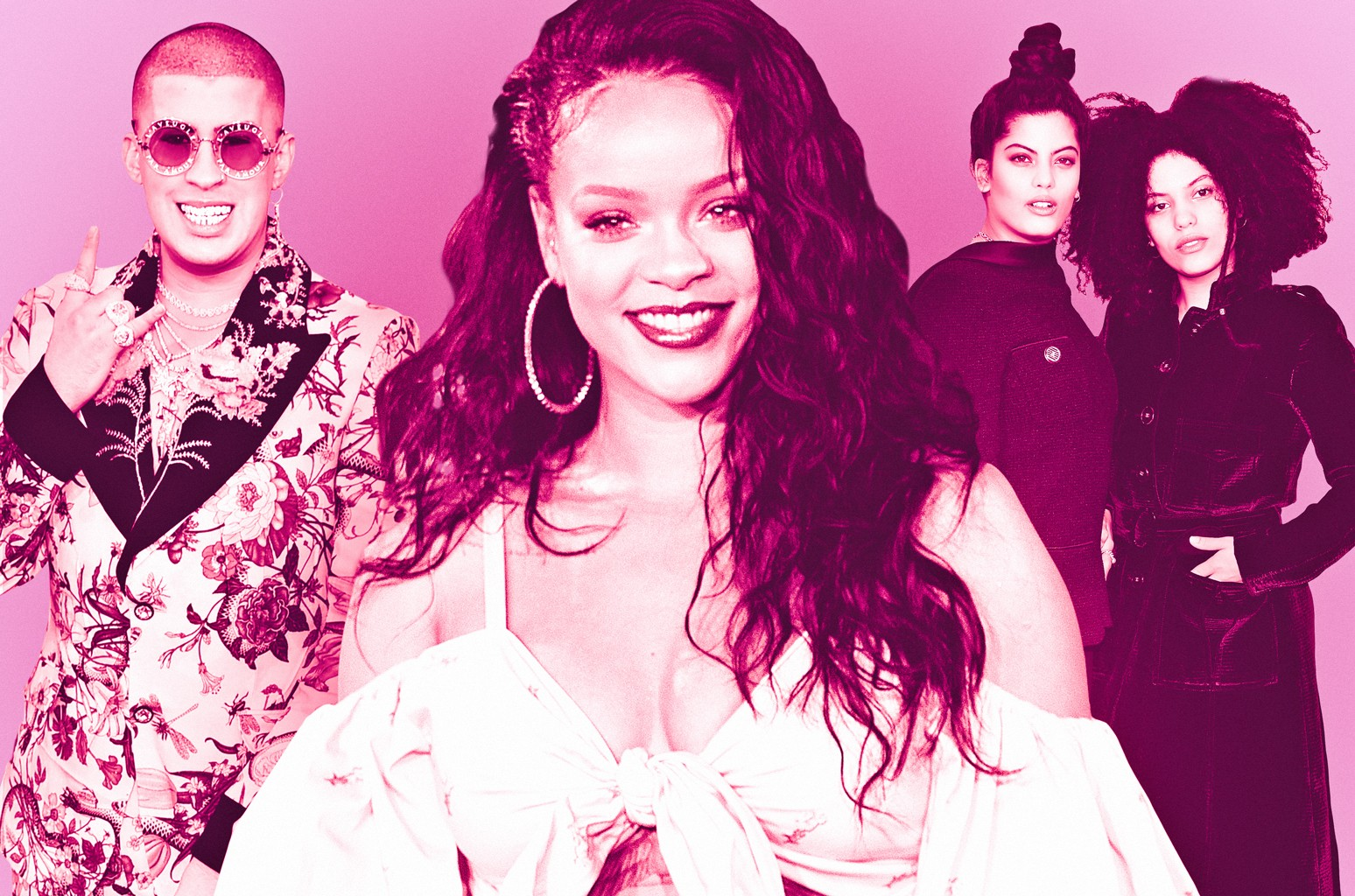 From left: Bad Bunny, Rihanna & Ibeyi