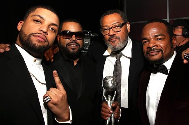 O'Shea Jackson Jr., Ice Cube,  Laurence Fishburne, and director F. Gary Gray