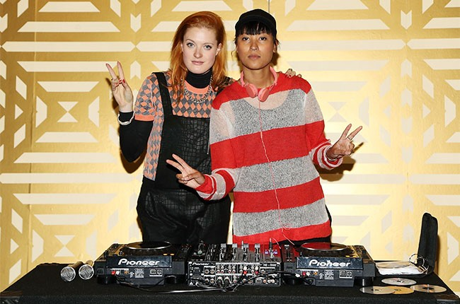 Caroline Hjelt and Aino Jawo of Icona Pop at Music Choice