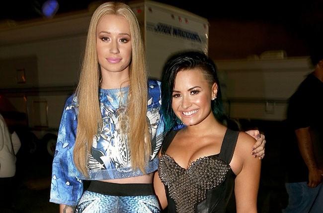Iggy Azalea and Demi Lovato, 2014.