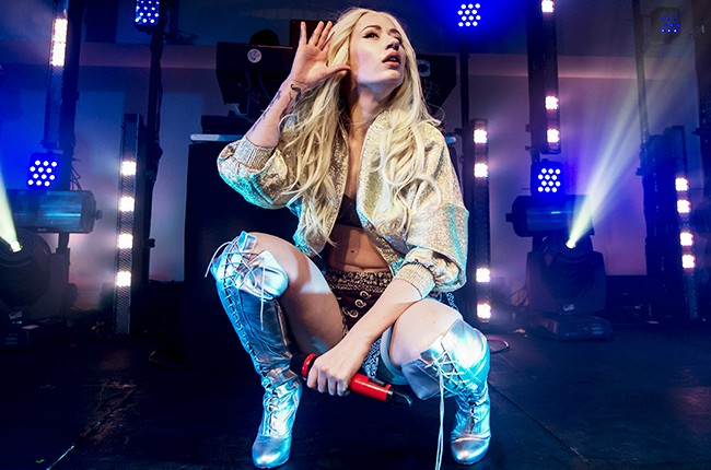 Iggy Azalea performs on stage at supperclub on October 14, 2013 in London