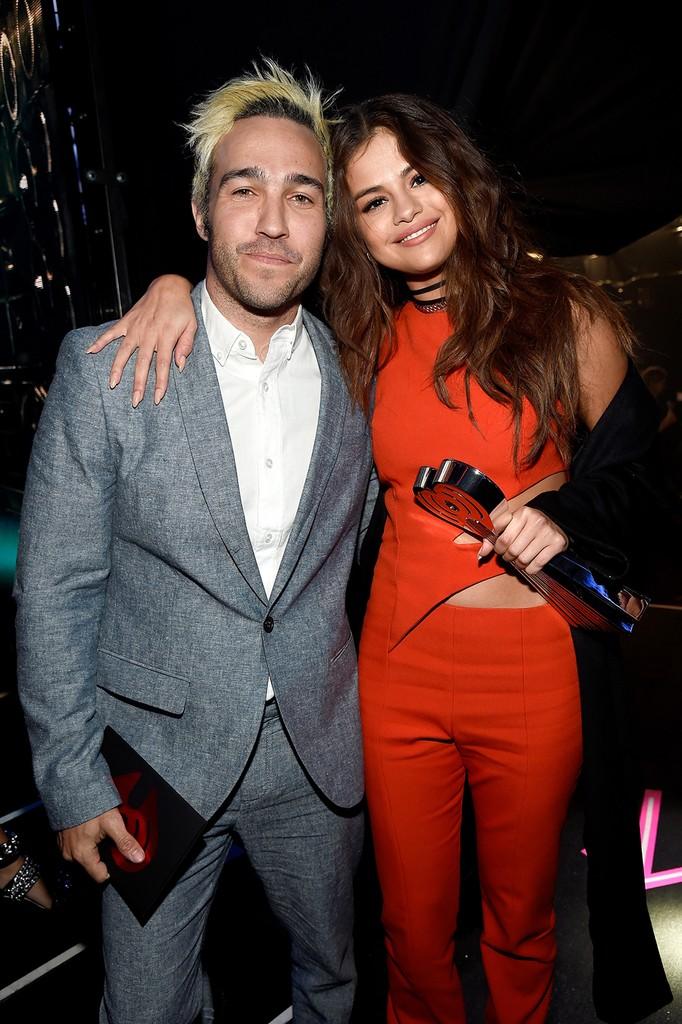Selena Gomez and Pete Wentz
