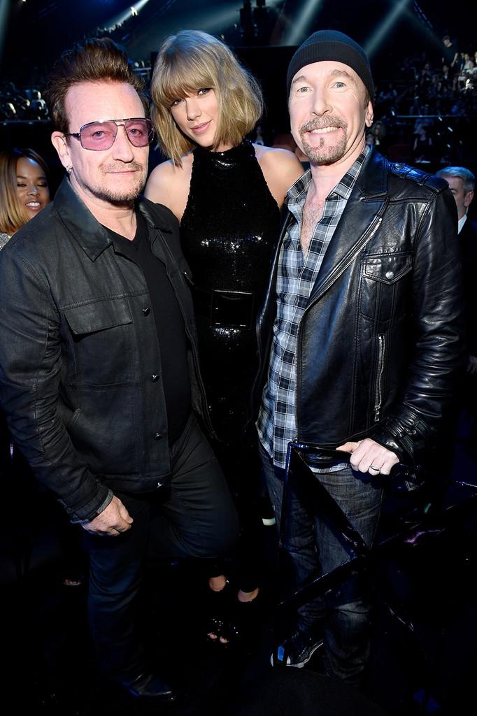 Bono, Taylor Swift, and The Edge