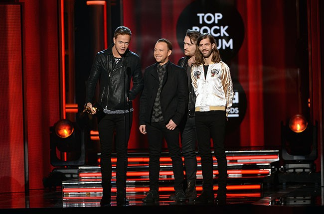 Dan Reynolds, Ben McKee, Daniel Platzman and Wayne 'Wing' Sermon of Imagine Dragons