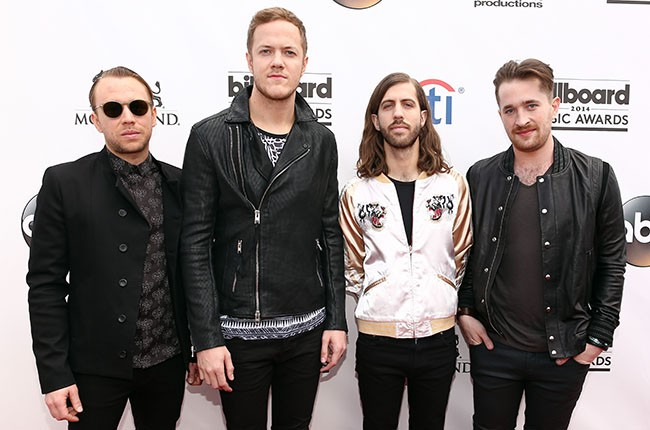 Ben McKee, Dan Reynolds, Wayne 'Wing' Sermon and Daniel Platzman of Imagine Dragons