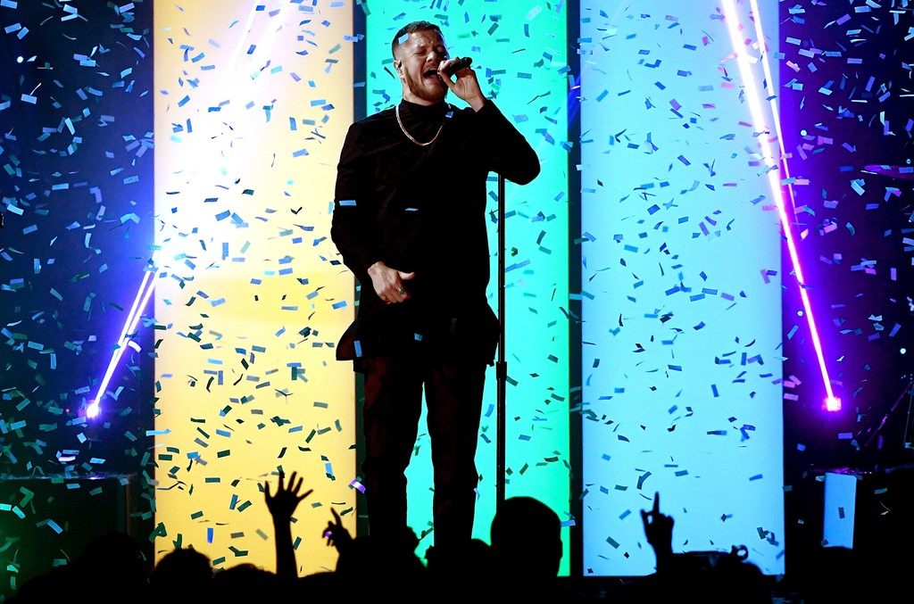 Dan Reynolds of Imagine Dragons performs onstage during the 2017 Billboard Music Awards at T-Mobile Arena on May 21, 2017 in Las Vegas.